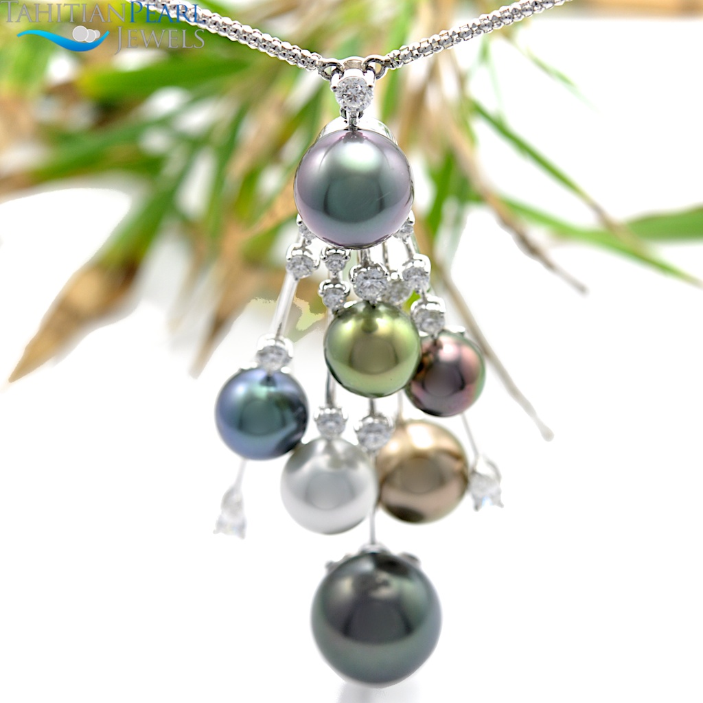 tahitian in collection pendants collections black paradise pearl silver dew sterling drop pendant